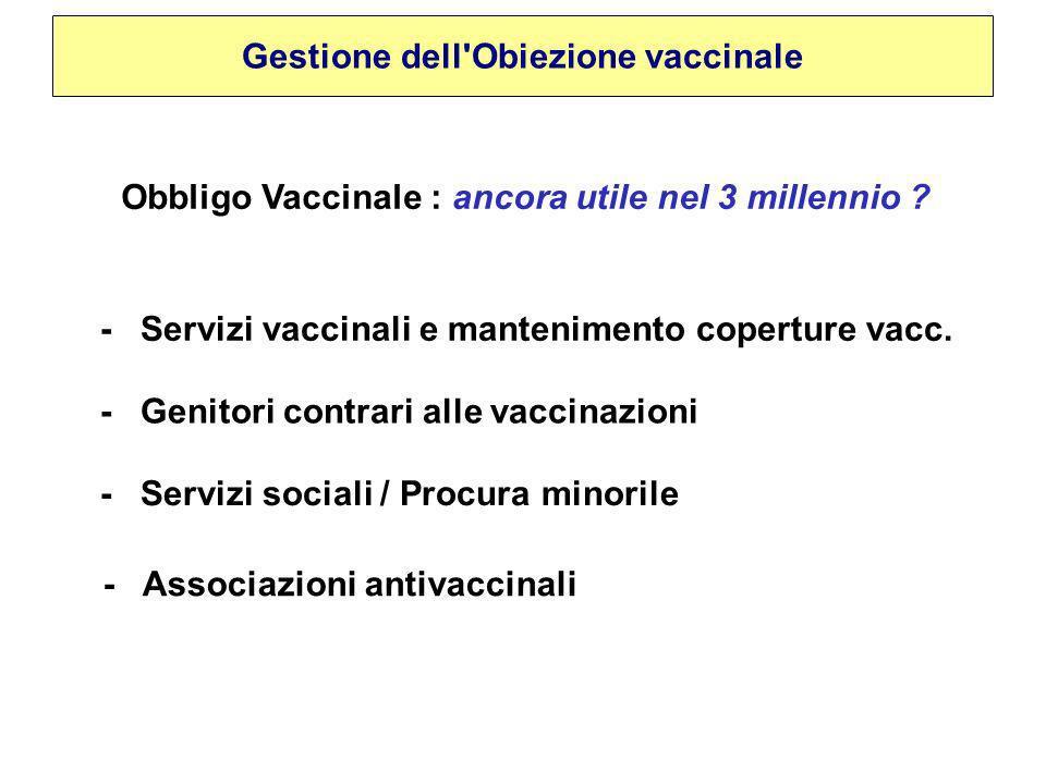 Obbligo Vaccinale : ancora utile nel 3 millennio .