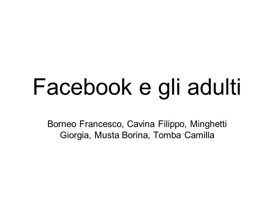 Facebook e gli adulti Borneo Francesco, Cavina Filippo, Minghetti Giorgia, Musta Borina, Tomba Camilla