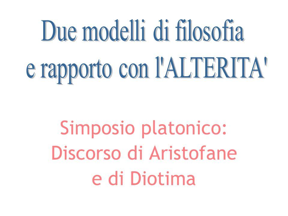Simposio platonico: Discorso di Aristofane e di Diotima