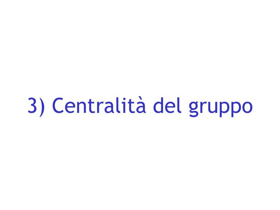 3) Centralità del gruppo