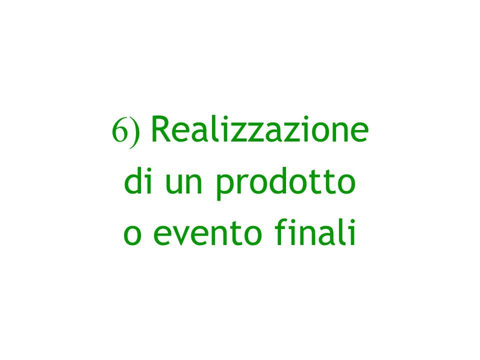 6) Realizzazione di un prodotto o evento finali