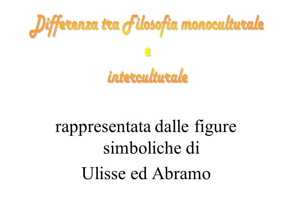 rappresentata dalle figure simboliche di Ulisse ed Abramo