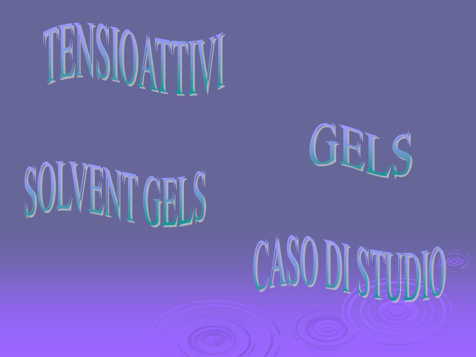 La chimica del gel Caratteristica fondamentale del gel è la reticolazione.