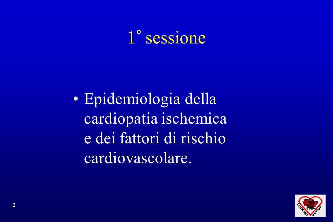 3 MORTALITA MALATTIE CARDIOVASCOLARI 44% DI TUTTI I DECESSI Cardiopatia ischemica 28 % Ictus 16 % Incidenza : 300/100.000/anno