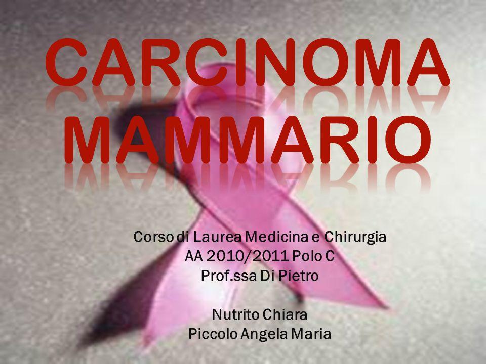 Corso di Laurea Medicina e Chirurgia AA 2010/2011 Polo C Prof.ssa Di Pietro Nutrito Chiara Piccolo Angela Maria