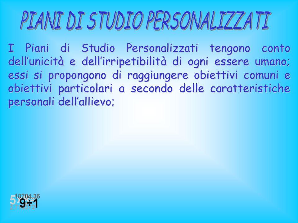 La riforma mostra aspetti innovativi in quanto prevede: Piani di Studio Personalizzati; Piani di Studio Personalizzati;Piani di Studio PersonalizzatiP