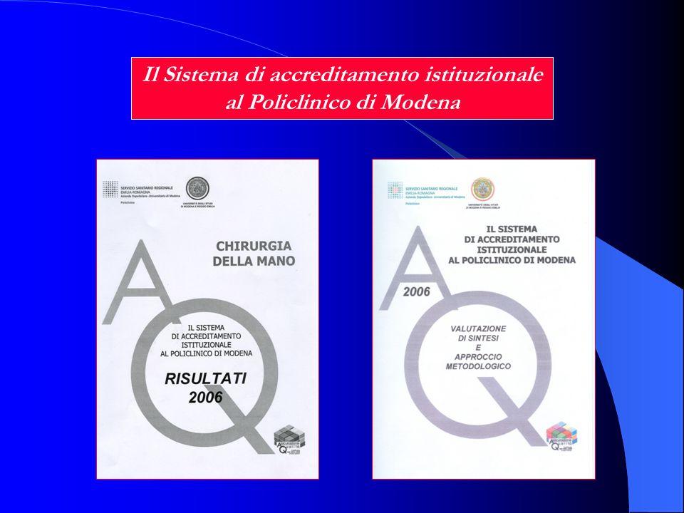 Il Sistema di accreditamento istituzionale al Policlinico di Modena