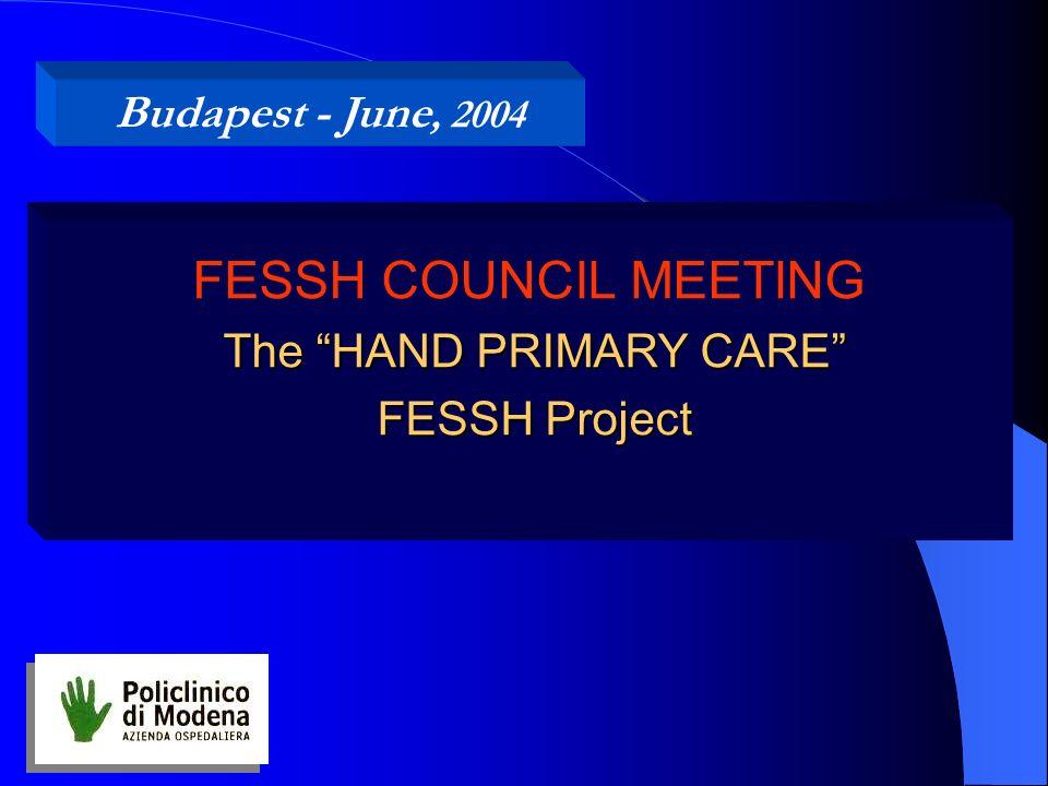 The HAND PRIMARY CARE FESSH Project FESSH COUNCIL MEETING The HAND PRIMARY CARE FESSH Project Budapest - June, 2004