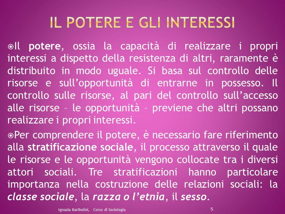 La classe sociale oltre ad essere determinata dal reddito, dipende dal controllo su altri tre tipi di risorse: la proprietà, lautorità, la competenza.