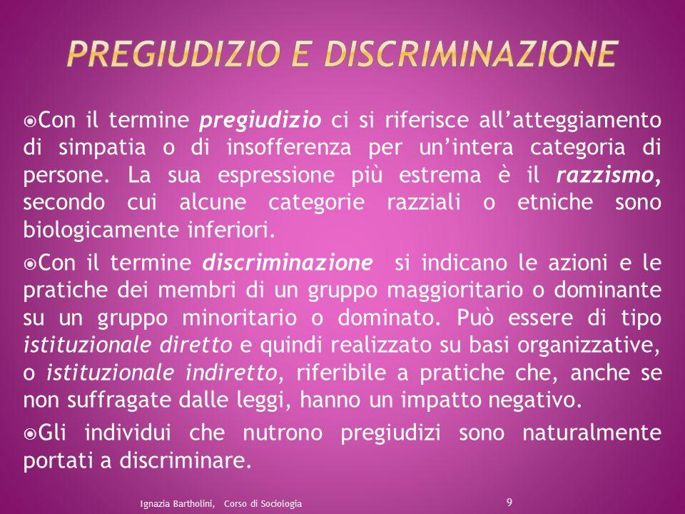 La divisione sessuale del lavoro – che è una delle forme di discriminazione - non si limita a distribuire i compiti sulla base del sesso, ma ad allocare diritti, responsabilità ed autorità.