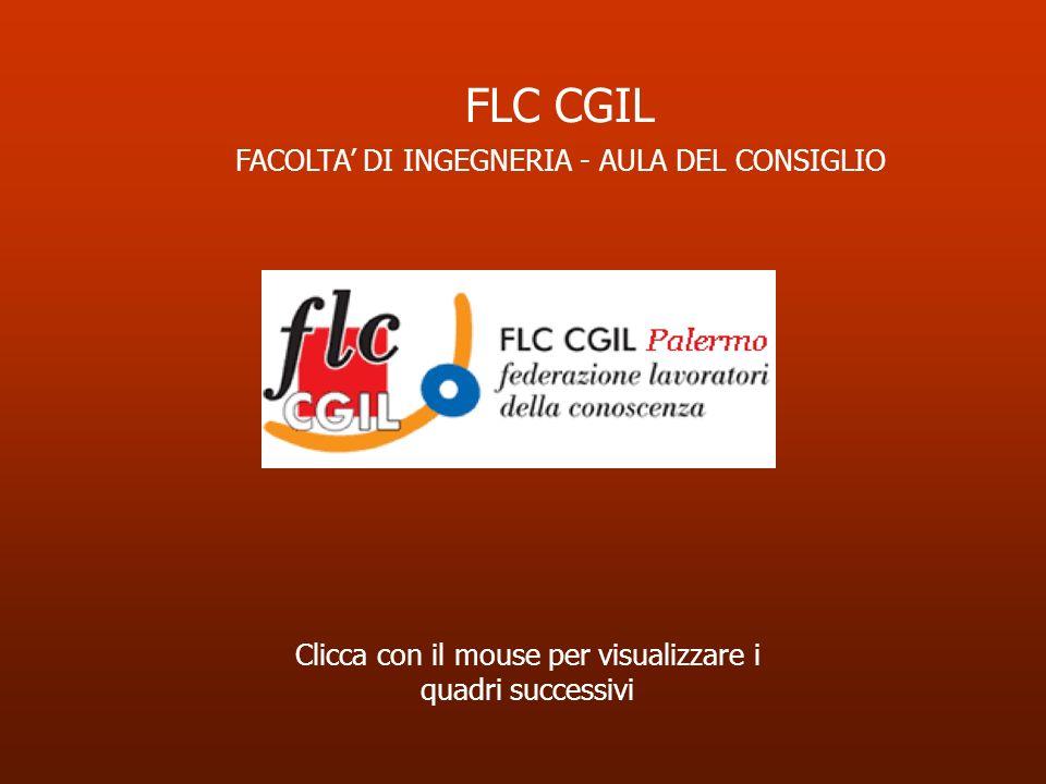 Clicca con il mouse per visualizzare i quadri successivi FLC CGIL FACOLTA DI INGEGNERIA - AULA DEL CONSIGLIO
