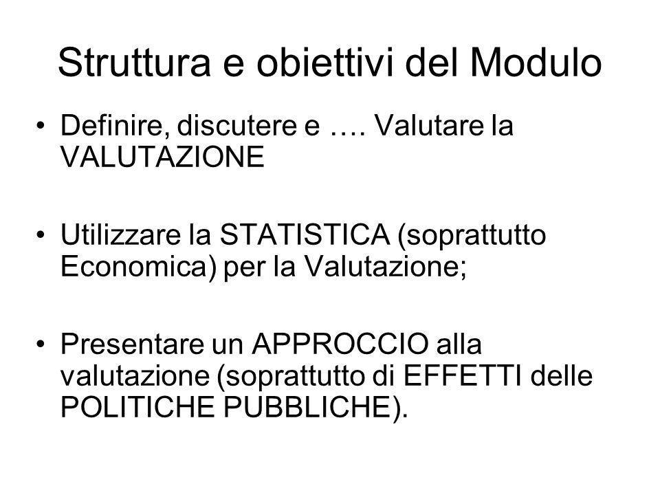 Struttura e obiettivi del Modulo Definire, discutere e ….