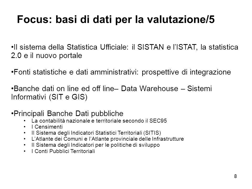8 Il sistema della Statistica Ufficiale: il SISTAN e lISTAT, la statistica 2.0 e il nuovo portale Fonti statistiche e dati amministrativi: prospettive
