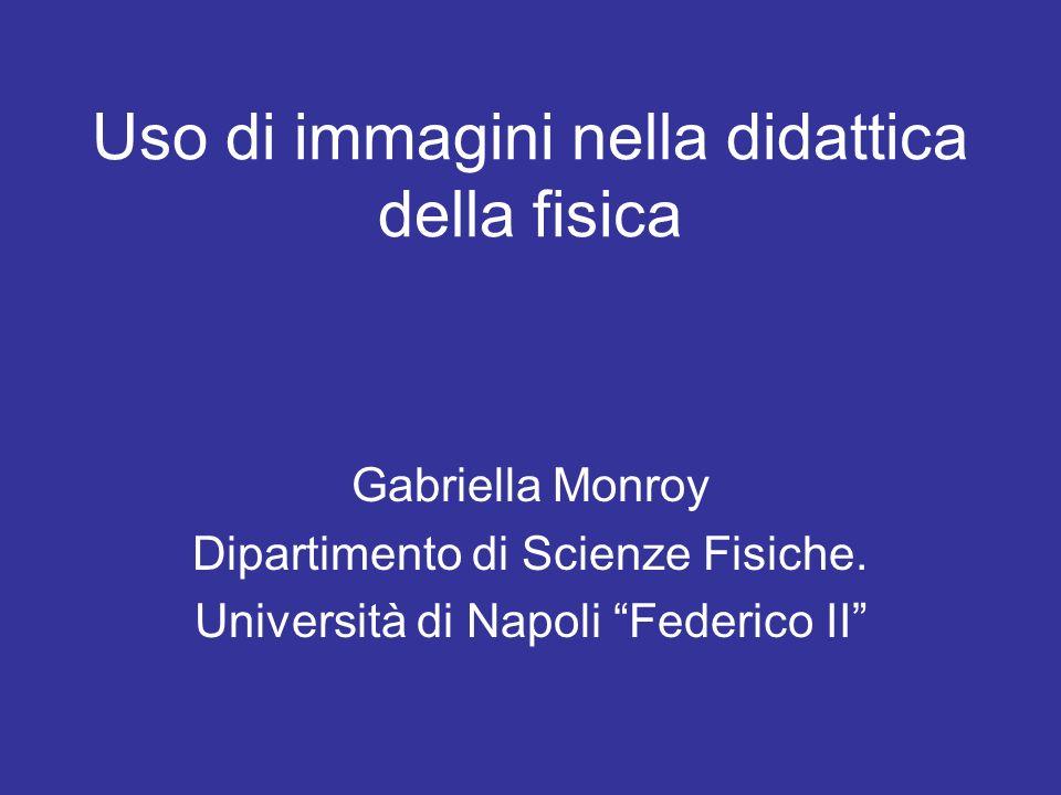 Uso di immagini nella didattica della fisica Gabriella Monroy Dipartimento di Scienze Fisiche. Università di Napoli Federico II
