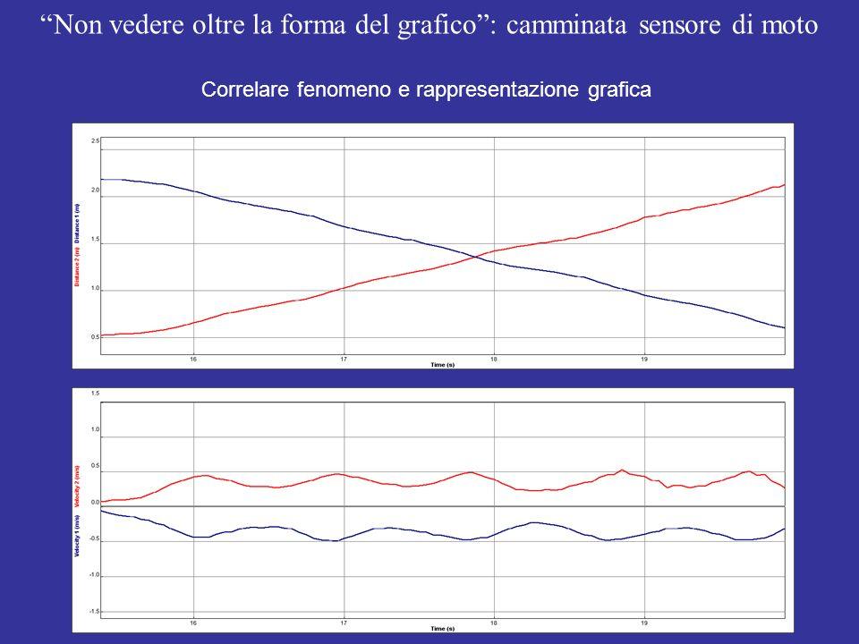 Non vedere oltre la forma del grafico: camminata sensore di moto Correlare fenomeno e rappresentazione grafica