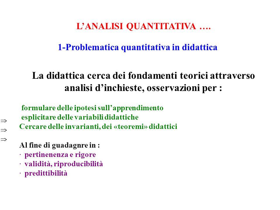 LANALISI QUANTITATIVA ….4- Analisi gerachica delle similarità e analisi implicativa Sia A (risp.