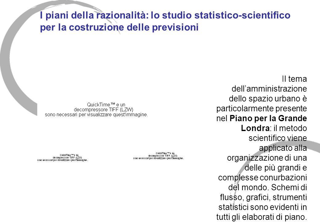 I piani della razionalità: lo studio statistico-scientifico per la costruzione delle previsioni Il tema dellamministrazione dello spazio urbano è part