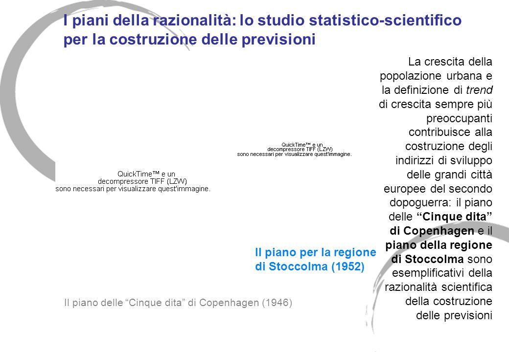 I piani della razionalità: lo studio statistico-scientifico per la costruzione delle previsioni La crescita della popolazione urbana e la definizione