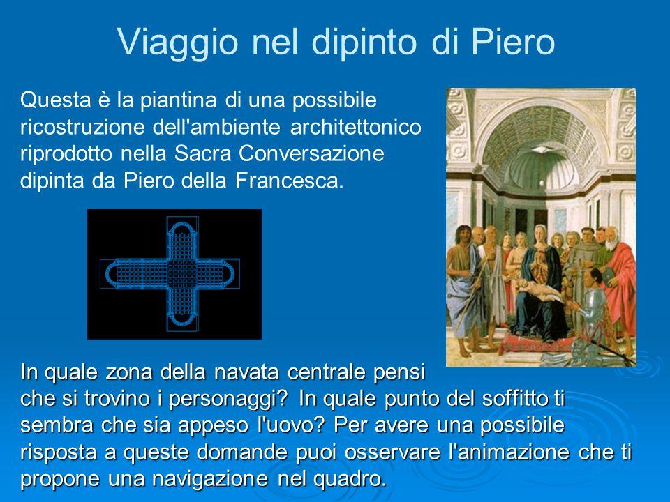 Viaggio nel dipinto di Piero Questa è la piantina di una possibile ricostruzione dell'ambiente architettonico riprodotto nella Sacra Conversazione dip
