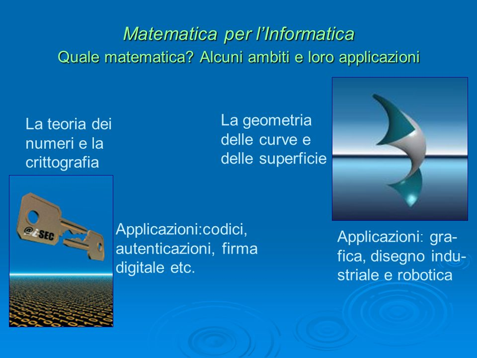 Matematica per lInformatica Quale matematica.