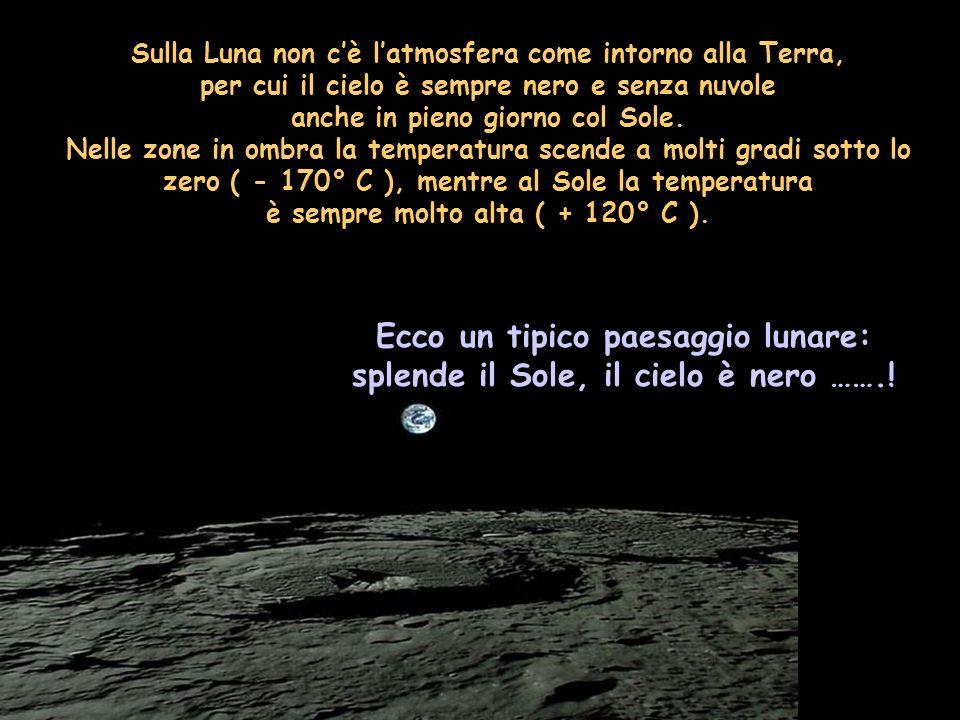 Sulla Terra abbiamo l atmosfera A che serve ? E sulla Luna ???