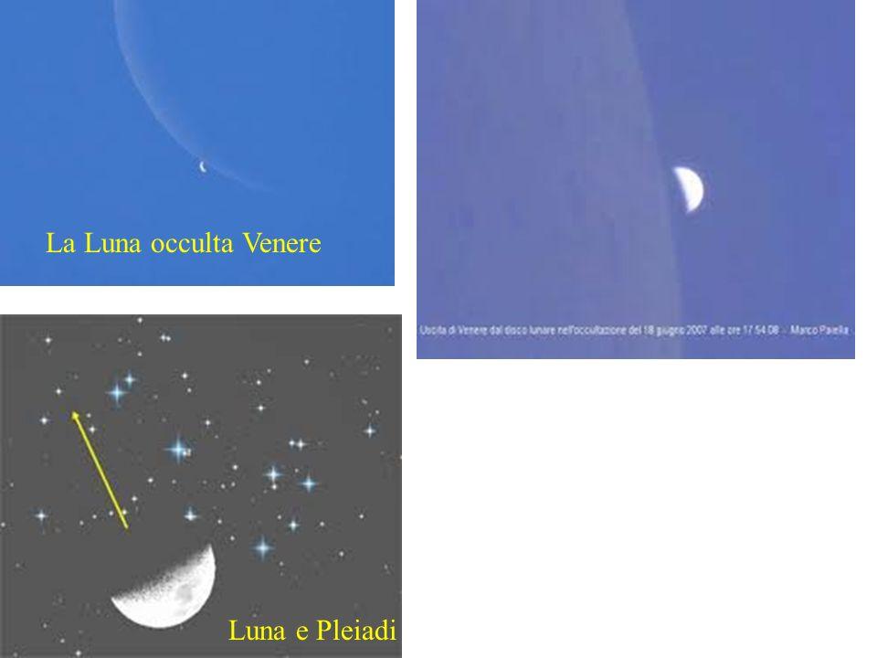 La Luna occulta Venere Luna e Pleiadi