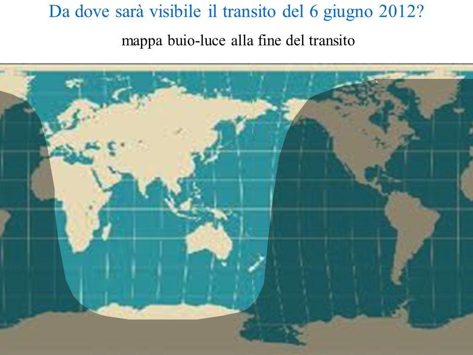 Da dove sarà visibile il transito del 6 giugno 2012? mappa buio-luce alla fine del transito