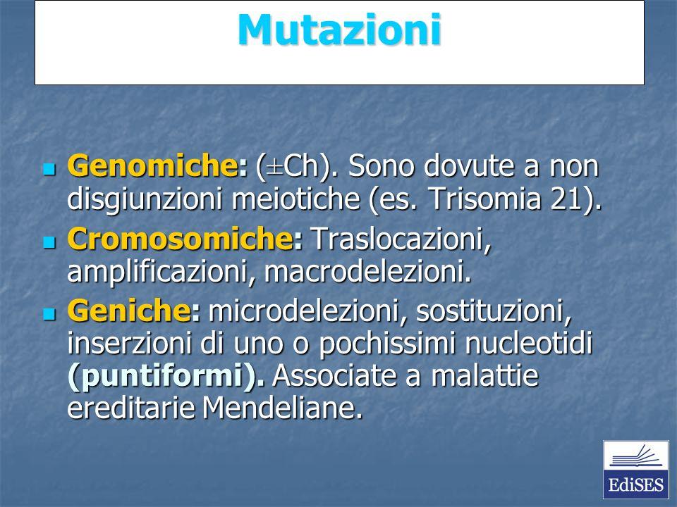 Martini – Fondamenti di Anatomia e Fisiologia – Capitolo 15 Mutazioni Genomiche: (±Ch).