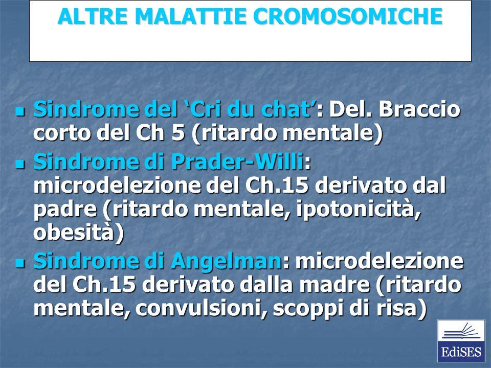 Martini – Fondamenti di Anatomia e Fisiologia – Capitolo 15 ALTRE MALATTIE CROMOSOMICHE Sindrome del Cri du chat: Del.