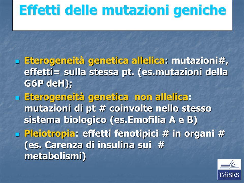 Martini – Fondamenti di Anatomia e Fisiologia – Capitolo 15 Effetti delle mutazioni geniche Eterogeneità genetica allelica: mutazioni#, effetti= sulla stessa pt.