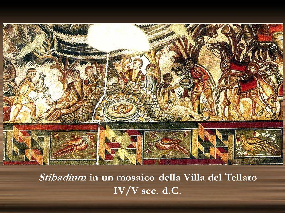 Stibadium in un mosaico della Villa del Tellaro IV/V sec. d.C.