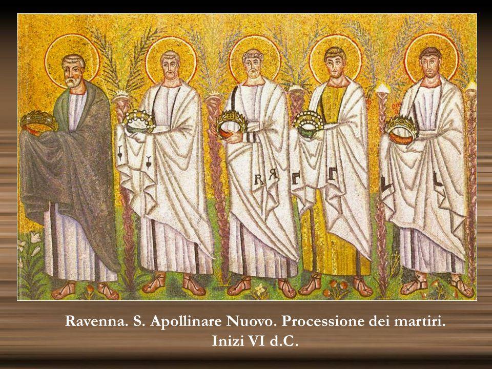 Ravenna. S. Apollinare Nuovo. Processione dei martiri. Inizi VI d.C.