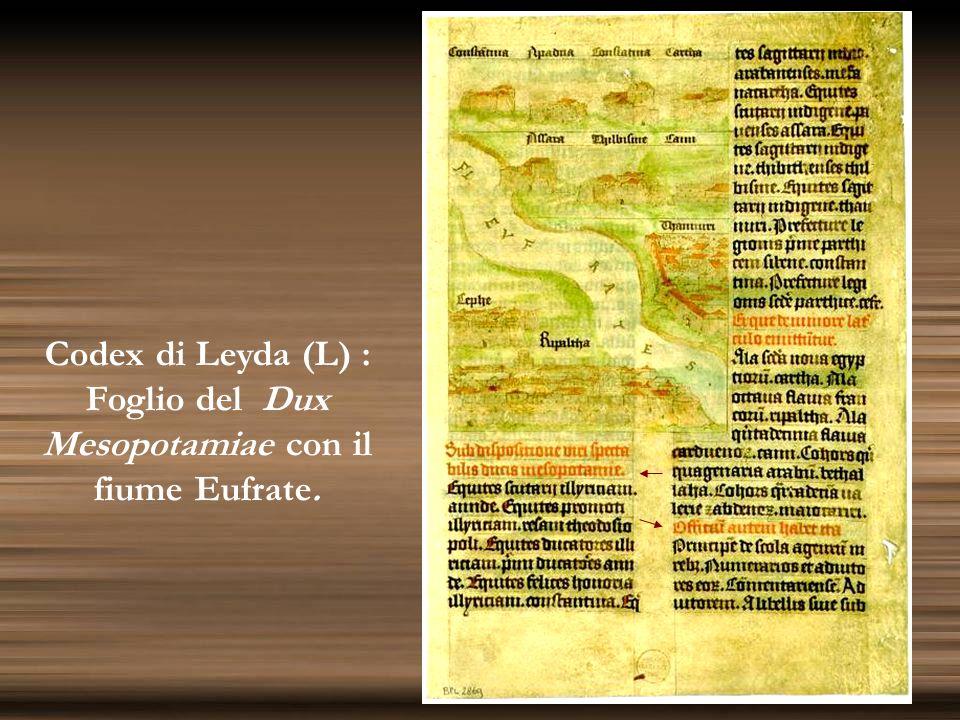 Codex di Leyda (L) : Foglio del Dux Mesopotamiae con il fiume Eufrate.