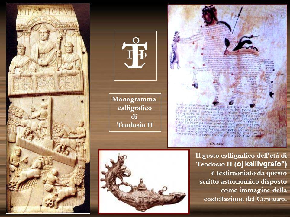 Il gusto calligrafico dell'età di Teodosio II ( oj kallivgrafo