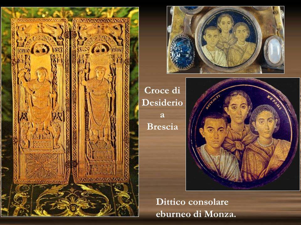 Dittico consolare eburneo di Monza. Croce di Desiderio a Brescia