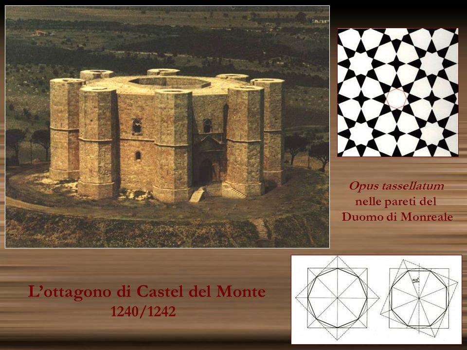 Lottagono di Castel del Monte 1240/1242 Opus tassellatum nelle pareti del Duomo di Monreale