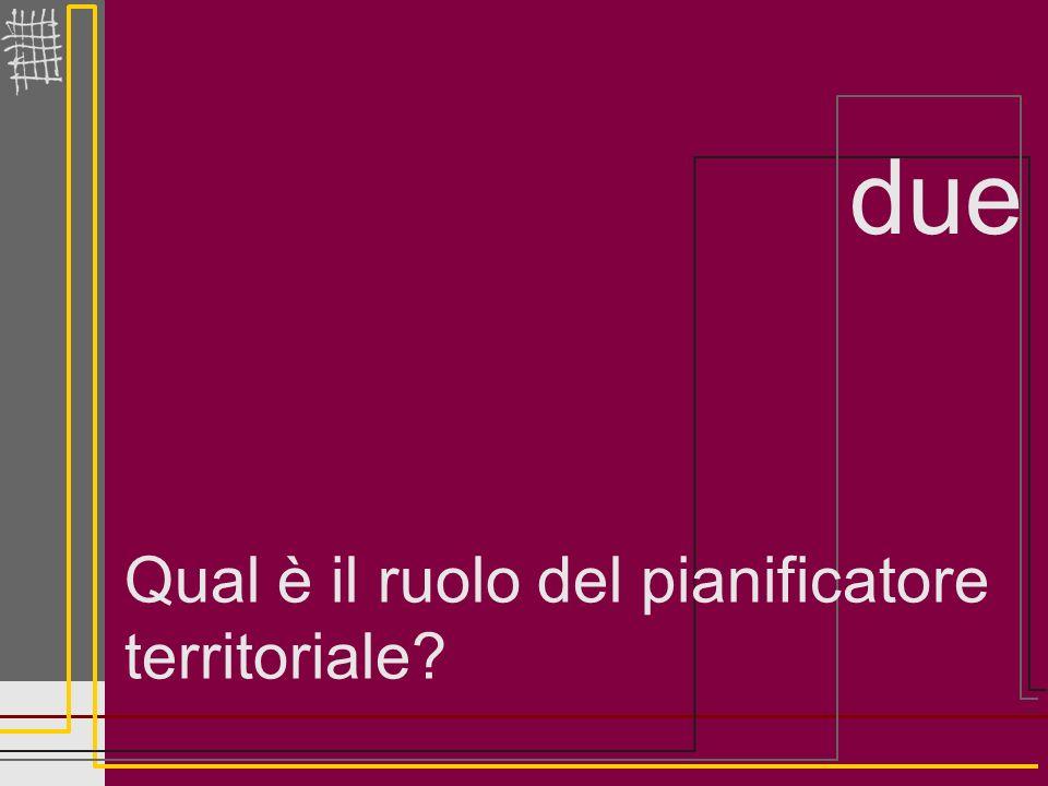 2.Qual è il ruolo del pianificatore territoriale.
