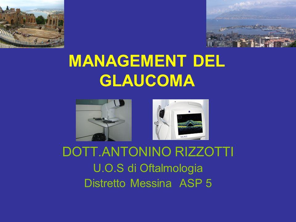 MANAGEMENT DEL GLAUCOMA DOTT.ANTONINO RIZZOTTI U.O.S di Oftalmologia Distretto Messina ASP 5