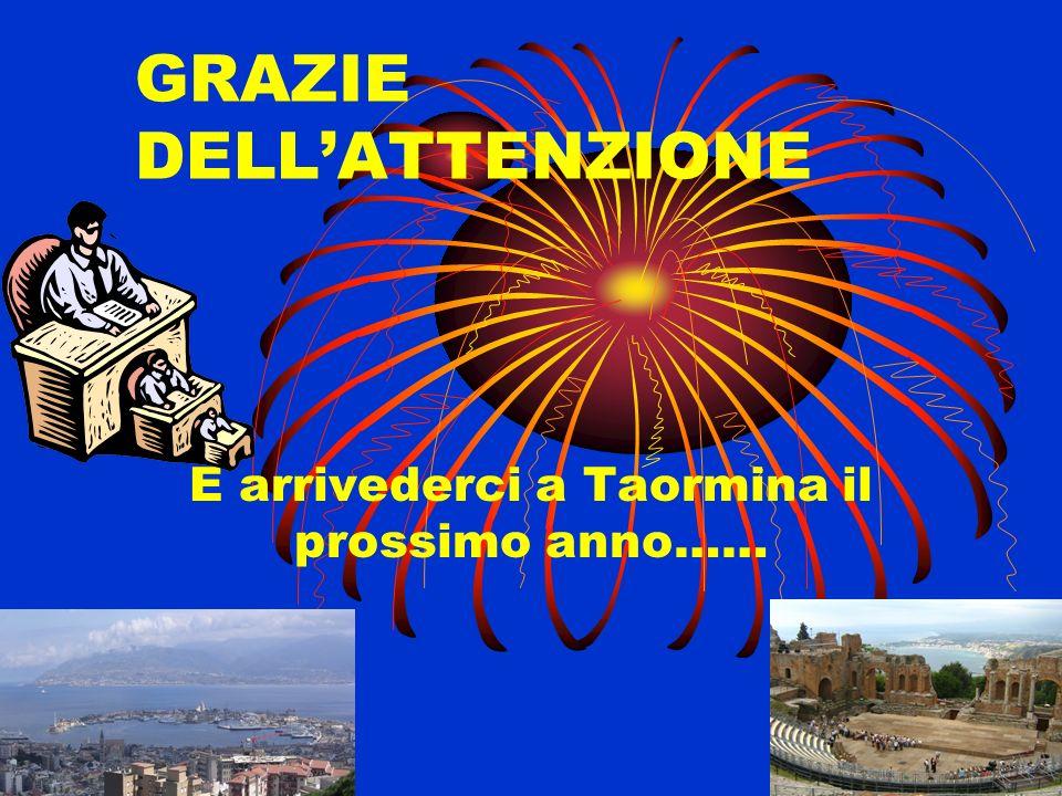 GRAZIE DELLATTENZIONE E arrivederci a Taormina il prossimo anno……