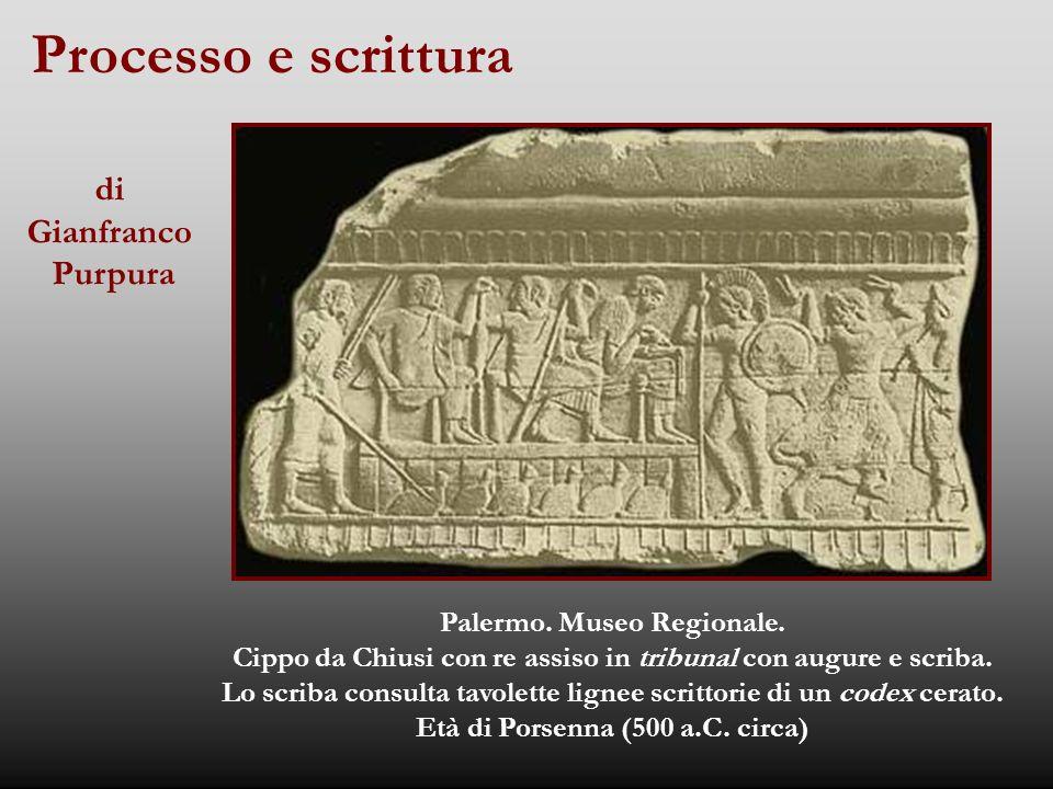 Processo e scrittura Palermo.Museo Regionale.