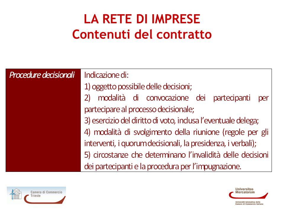 LA RETE DI IMPRESE - Procedura Costruire una rete di imprese non si risolve nella semplice redazione di un contratto.