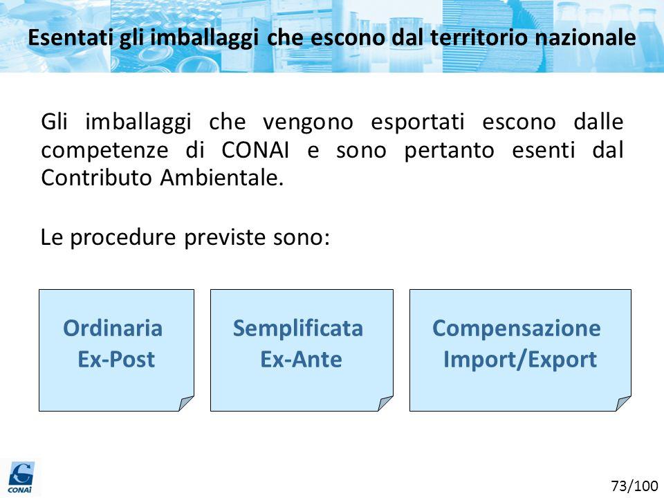 Le procedure previste sono: Gli imballaggi che vengono esportati escono dalle competenze di CONAI e sono pertanto esenti dal Contributo Ambientale. Or