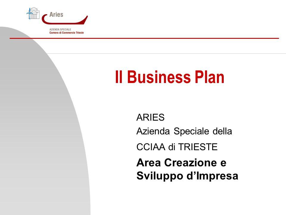 Il Business Plan ARIES Azienda Speciale della CCIAA di TRIESTE Area Creazione e Sviluppo dImpresa