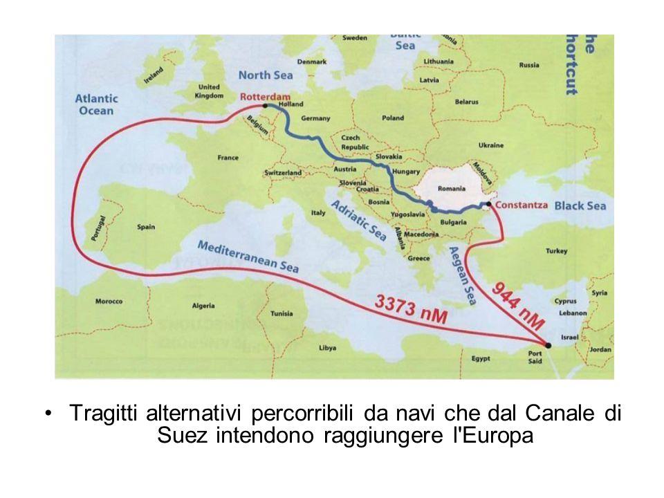 Tragitti alternativi percorribili da navi che dal Canale di Suez intendono raggiungere l Europa
