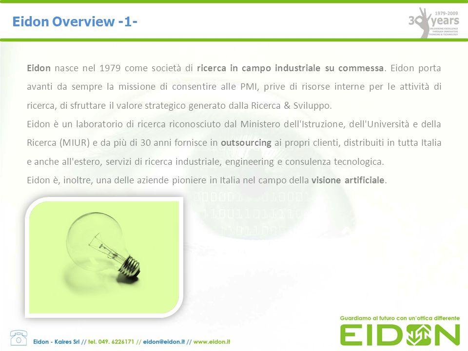 Eidon Lab Scarl : è un organismo di ricerca nonprofit indipendente, (EC Com.2006 C 323/01 Sec.