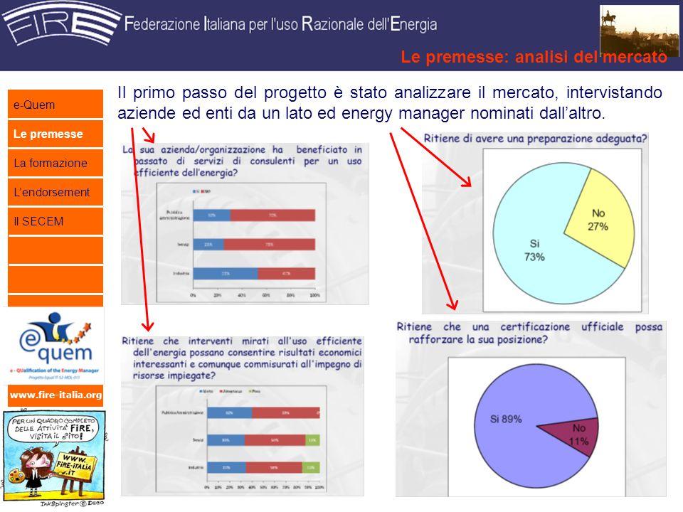 www.fire-italia.org Il primo passo del progetto è stato analizzare il mercato, intervistando aziende ed enti da un lato ed energy manager nominati dallaltro.