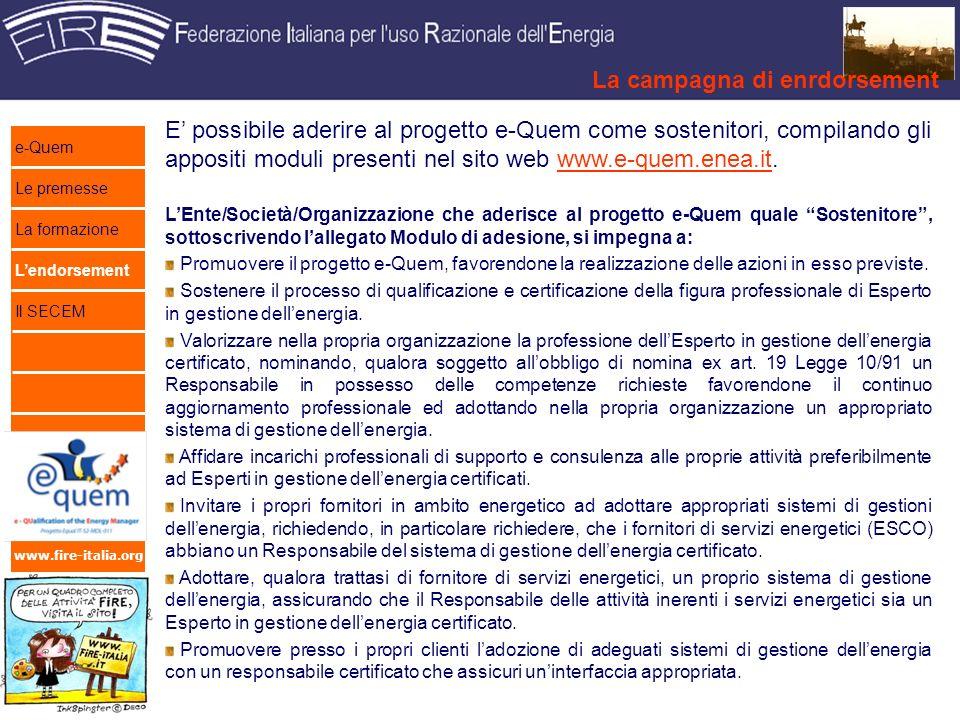 www.fire-italia.org Ladesione come sostenitori offre alcuni vantaggi.