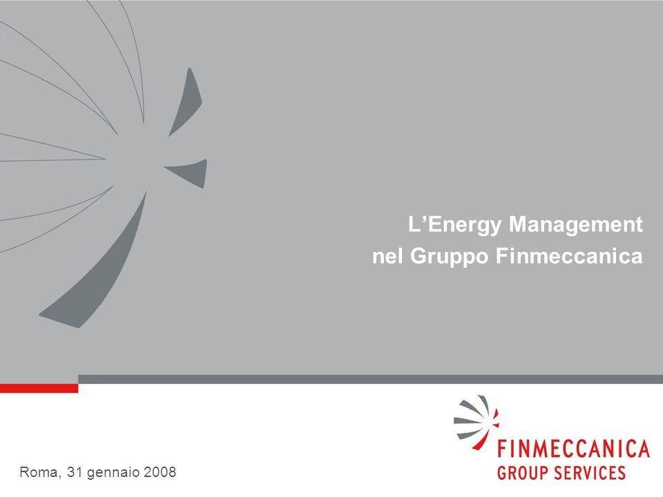 LEnergy Management nel Gruppo Finmeccanica Roma, 31 gennaio 2008