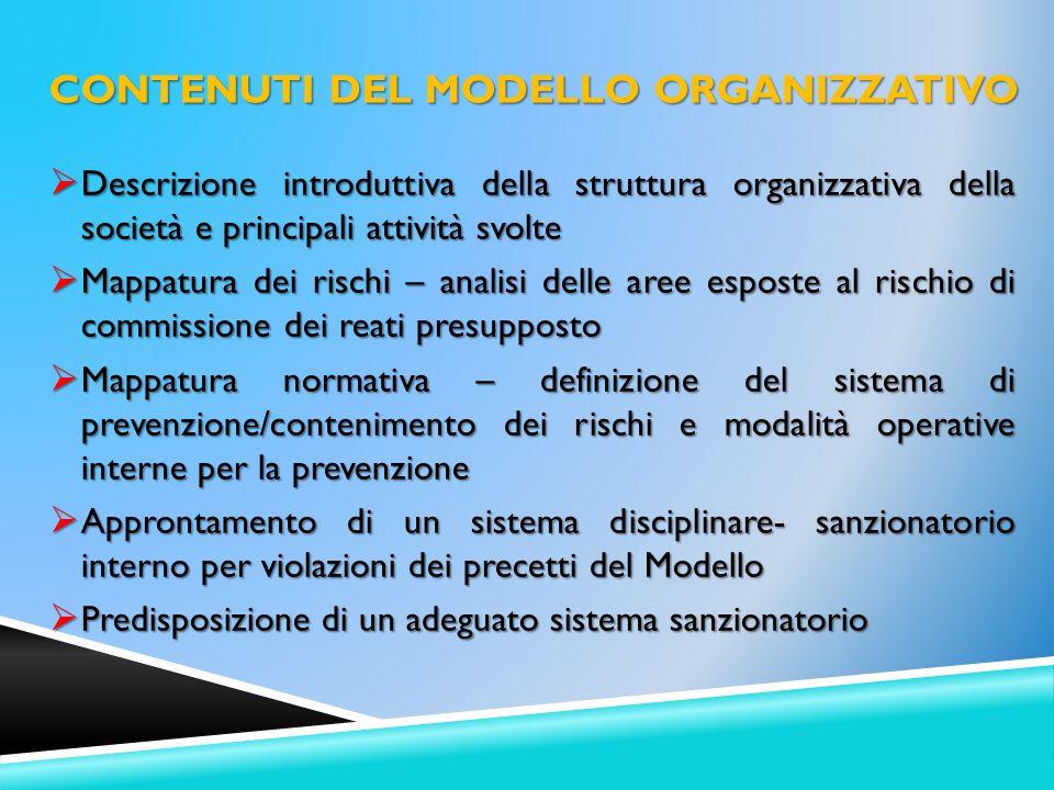 Descrizione introduttiva della struttura organizzativa della società e principali attività svolte Descrizione introduttiva della struttura organizzati