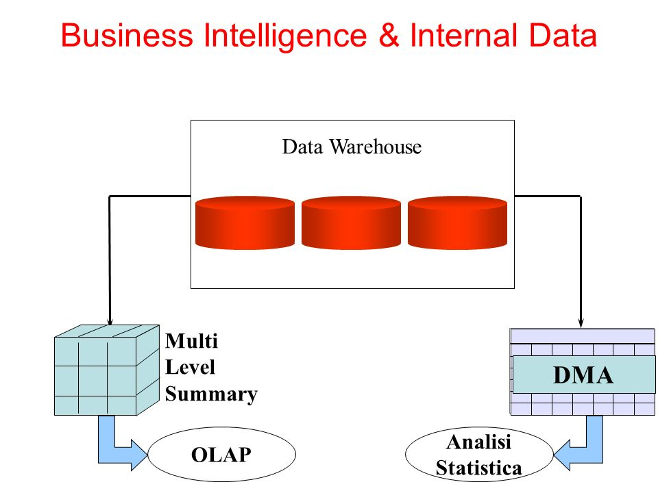 Data Warehouse DMA Multi Level Summary OLAP Analisi Statistica Business Intelligence & Internal Data